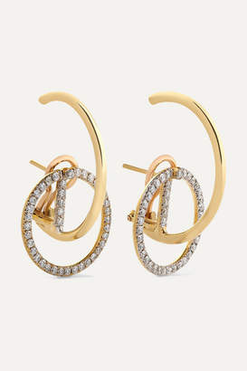 Ana Khouri Brigid 18-karat Gold Diamond Earrings