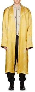 Haider Ackermann Men's Bamboo-Pattern Linen-Silk Jacquard Robe-Gold