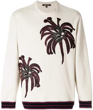 Roberto Cavalli Palms embroidered sweatshirt
