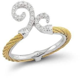 Alor Diamond Gray Cable Ring
