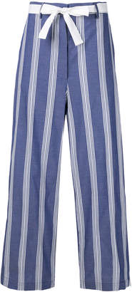 Hache striped cropped trousers