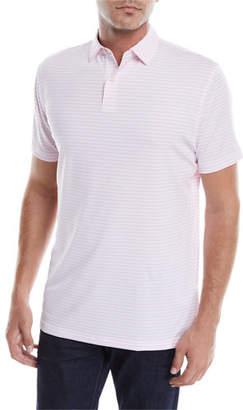 Peter Millar Men's Donald Stripe Tour-Fit Polo Shirt