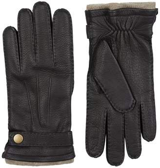 Harrods Cashmere Lined Leather Gloves