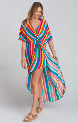 Show Me Your Mumu Get Twisted Maxi Dress ~ Tulum Stripe Cruise