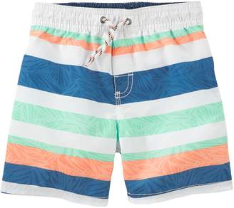 Osh Kosh Oshkosh Bgosh Boys 4-8 Striped Swim Trunks
