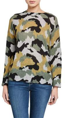 360 Sweater 360Sweater Nanette Camo-Print Cashmere Sweater