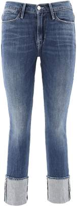 Frame Cuffed Hem Jeans