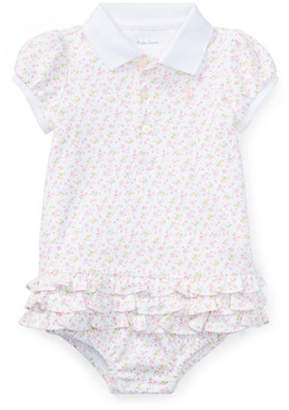 Ralph Lauren Floral Cotton Polo Dress and Bloomers Set