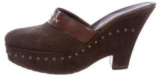 Henry Beguelin Leather Platform Mules