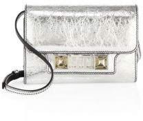 Proenza Schouler PS11 Metallic Leather Chain Wallet