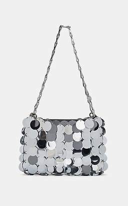 Paco Rabanne Women's Iconic Sparkle Shoulder Bag - Silver