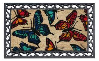 A1 Home Collections LLC Butterflies Doormat