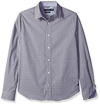 Nautica Men's Standard Ls Wrinkle Resistant Stretch Poplin Plaid Button Down Shirt