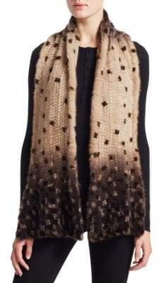 The Fur Salon Knit Mink Fur Scarf