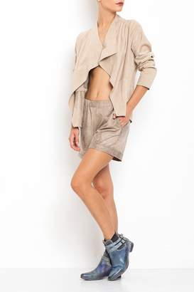Dagani Studio Faux Leather Shorts