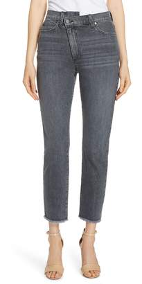 Alice + Olivia AO.LA by Amazing Asymmetrical Slim Straight Jeans