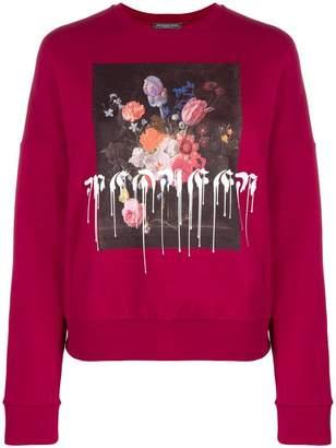 Alexander McQueen floral paint drip sweatshirt
