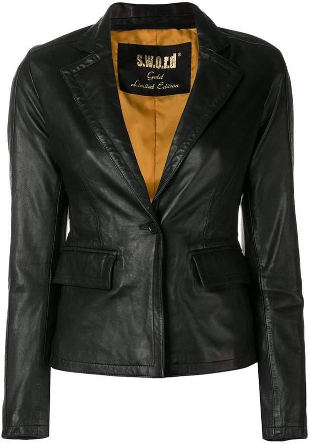 S.W.O.R.D 6.6.44 blazer-like leather jacket