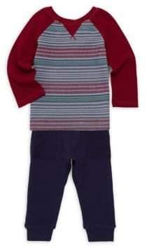 Splendid Baby Boy's Two-Piece Stripe Top & Jogger Pants Set