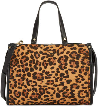 INC International Concepts I.n.c. Remmey Leopard-Print Satchel, Created for Macy's