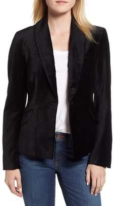 Jen7 Stretch Cotton Velvet Blazer