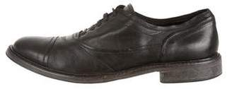 Belstaff Cap-Toe Leather Oxfords