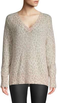 360 Cashmere Sylvia Leopard Cashmere Sweater