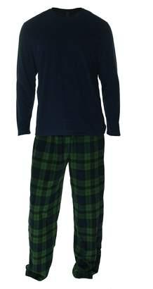 Club Room Men's Long Sleeve Fleece Shirt with Fleece Sleep Pants