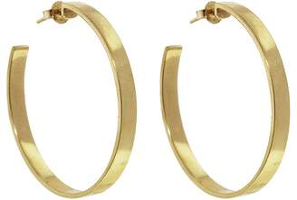 Jennifer Meyer Flat Open Circle Hoop Earrings - Yellow Gold