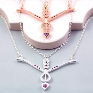 J&S Jewellery Bow And Arrow Necklace