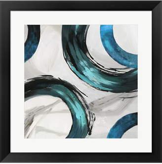 Teal Ring Ii By Tom Reeves Framed Art