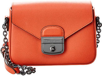 Longchamp Le Pliage Heritage Chain Small Leather Crossbody