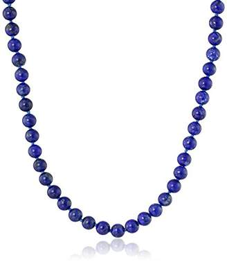 Lapis Sterling Silver 6mm Lazuli Necklace