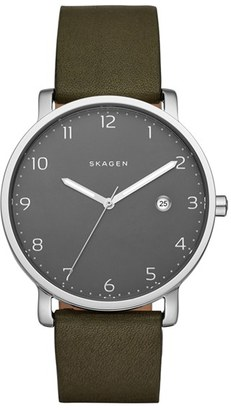 Skagen 'Hagen' Leather Strap Watch, 40mm $155 thestylecure.com