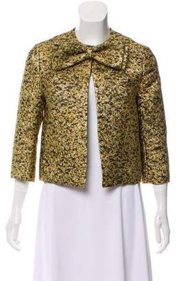 Merchant Archive Bow-Accented Metallic Jacket