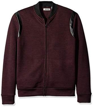Kenneth Cole Reaction Men's Bomber Sweatshirt with Pleather