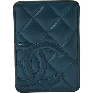 Chanel Blue Leather Purses, wallets & cases