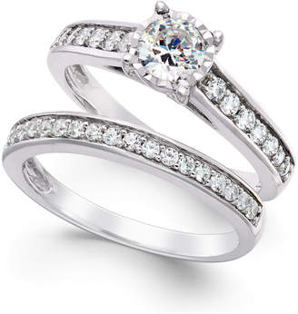 Trumiracle Diamond Bridal Engagement Ring Set in 14k White Gold (1 ct. t.w.)