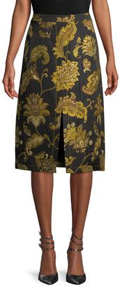 Derek Lam 10 Crosby Derek Lam Floral Slit Skirt