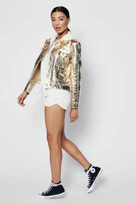 boohoo Metallic Trucker Jacket