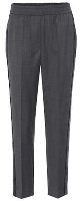 Brunello Cucinelli Embellished wool trousers