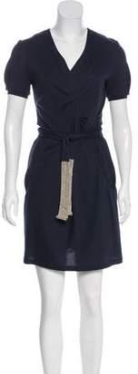 Rivamonti Belted Wool-Blend Dress
