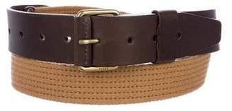 Gucci Leather-Trimmed Waist Belt