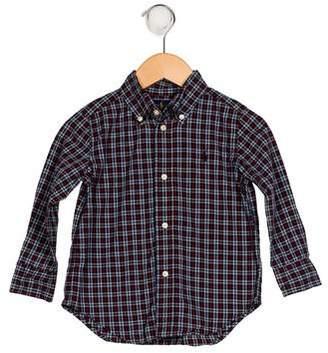 Ralph Lauren Boys' Plaid Print Shirt
