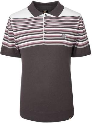 Pretty Green Striped Knitted Polo Shirt