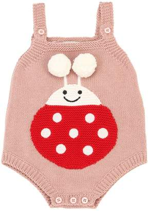 Stella McCartney Ladybug Intarsia Cotton Tricot Bodysuit