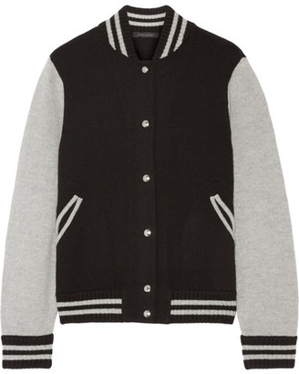 Marc Jacobs - Wool And Cashmere-blend Bomber Jacket - Black $595 thestylecure.com