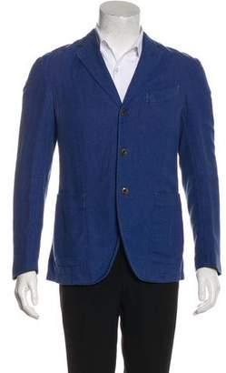 Boglioli Linen-Blend Three-Button Blazer