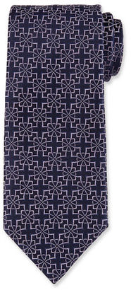 Charvet Diamond Flower Silk Tie
