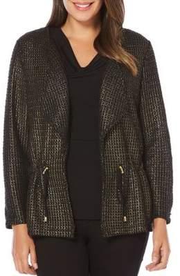 Rafaella Foil Mesh Knit Jacket